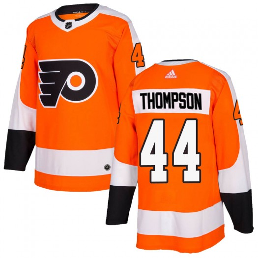 Nate Thompson Philadelphia Flyers Men's Adidas Authentic Orange Home Jersey