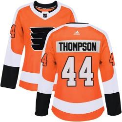 Nate Thompson Philadelphia Flyers Women's Adidas Authentic Orange Home Jersey