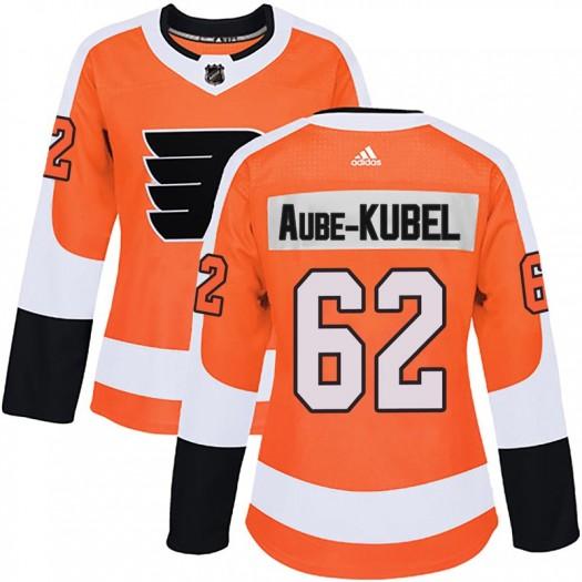 Nicolas Aube-Kubel Philadelphia Flyers Women's Adidas Authentic Orange Home Jersey