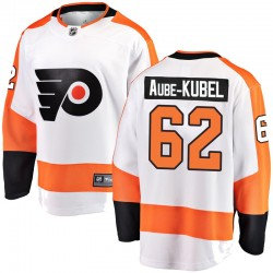 Nicolas Aube-Kubel Philadelphia Flyers Youth Fanatics Branded White Breakaway Away Jersey