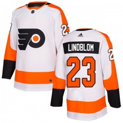 Oskar Lindblom Philadelphia Flyers Men's Adidas Authentic White Jersey