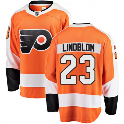 Oskar Lindblom Philadelphia Flyers Men's Fanatics Branded Orange Breakaway Home Jersey