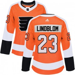 Oskar Lindblom Philadelphia Flyers Women's Adidas Authentic Orange Home Jersey