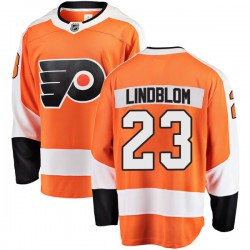 Oskar Lindblom Philadelphia Flyers Youth Fanatics Branded Orange Breakaway Home Jersey