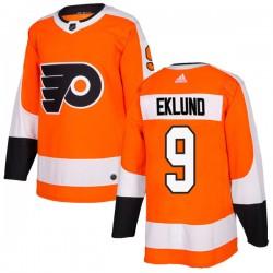 Pelle Eklund Philadelphia Flyers Men's Adidas Authentic Orange Home Jersey