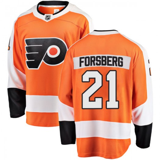 Peter Forsberg Philadelphia Flyers Men's Fanatics Branded Orange Breakaway Home Jersey
