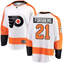 Peter Forsberg Philadelphia Flyers Men's Fanatics Branded White Breakaway Away Jersey