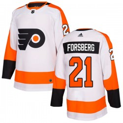 Peter Forsberg Philadelphia Flyers Youth Adidas Authentic White Jersey