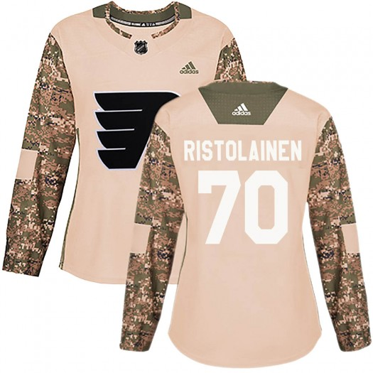 Rasmus Ristolainen Philadelphia Flyers Women's Adidas Authentic Camo Veterans Day Practice Jersey