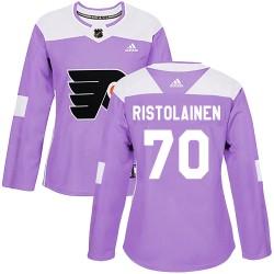 Rasmus Ristolainen Philadelphia Flyers Women's Adidas Authentic Purple Fights Cancer Practice Jersey