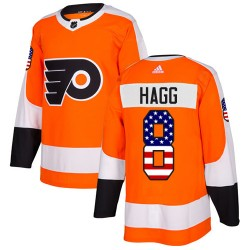 Robert Hagg Philadelphia Flyers Men's Adidas Authentic Orange USA Flag Fashion Jersey