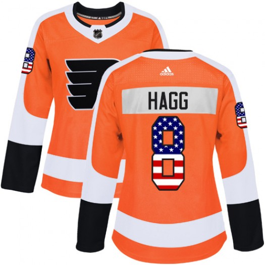 Robert Hagg Philadelphia Flyers Women's Adidas Authentic Orange USA Flag Fashion Jersey