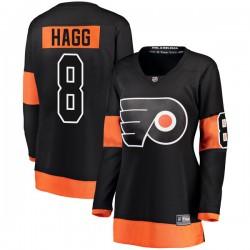 Robert Hagg Philadelphia Flyers Women's Fanatics Branded Black Breakaway Alternate Jersey