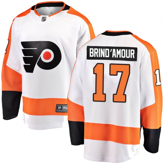 Rod Brind'amour Philadelphia Flyers Youth Fanatics Branded White Breakaway Away Jersey