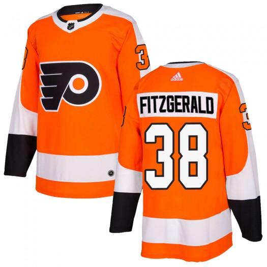 Ryan Fitzgerald Philadelphia Flyers Men's Adidas Authentic Orange Home Jersey