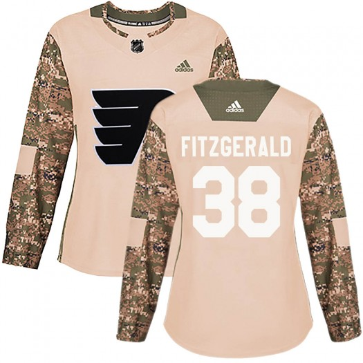 Ryan Fitzgerald Philadelphia Flyers Women's Adidas Authentic Camo Veterans Day Practice Jersey