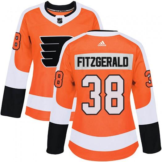 Ryan Fitzgerald Philadelphia Flyers Women's Adidas Authentic Orange Home Jersey
