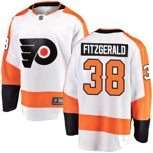 Ryan Fitzgerald Philadelphia Flyers Youth Fanatics Branded White Breakaway Away Jersey