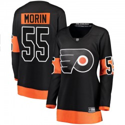 Samuel Morin Philadelphia Flyers Women's Fanatics Branded Black Breakaway Alternate Jersey