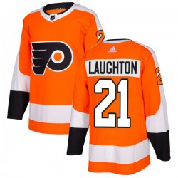 Scott Laughton Philadelphia Flyers Men's Adidas Authentic Orange Jersey