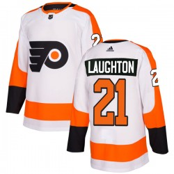 Scott Laughton Philadelphia Flyers Men's Adidas Authentic White Jersey