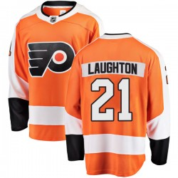 Scott Laughton Philadelphia Flyers Men's Fanatics Branded Orange Breakaway Home Jersey