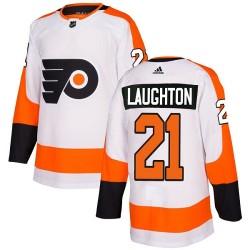 Scott Laughton Philadelphia Flyers Women's Adidas Authentic White Away Jersey