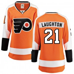 Scott Laughton Philadelphia Flyers Women's Fanatics Branded Orange Home Breakaway Jersey