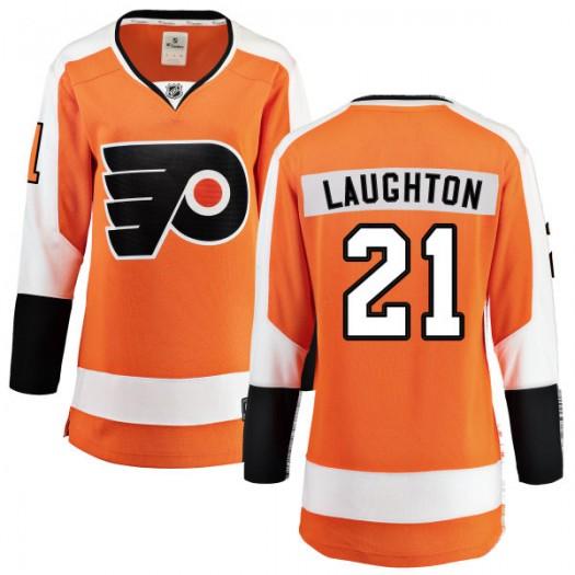 Scott Laughton Philadelphia Flyers Women's Fanatics Branded Orange Home Breakaway Jersey