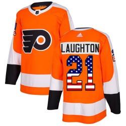 Scott Laughton Philadelphia Flyers Youth Adidas Authentic Orange USA Flag Fashion Jersey