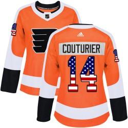 Sean Couturier Philadelphia Flyers Women's Adidas Authentic Orange USA Flag Fashion Jersey