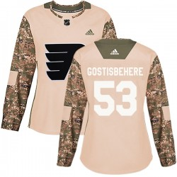 Shayne Gostisbehere Philadelphia Flyers Women's Adidas Authentic Camo Veterans Day Practice Jersey