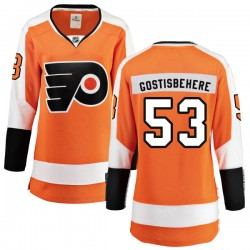 Shayne Gostisbehere Philadelphia Flyers Women's Fanatics Branded Orange Home Breakaway Jersey