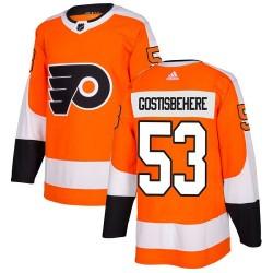 Shayne Gostisbehere Philadelphia Flyers Youth Adidas Authentic Orange Home Jersey