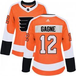 Simon Gagne Philadelphia Flyers Women's Adidas Authentic Orange Home Jersey