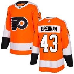 T.J. Brennan Philadelphia Flyers Men's Adidas Authentic Orange Home Jersey
