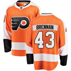 T.J. Brennan Philadelphia Flyers Men's Fanatics Branded Orange Breakaway Home Jersey