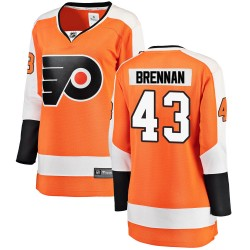 T.J. Brennan Philadelphia Flyers Women's Fanatics Branded Orange Breakaway Home Jersey
