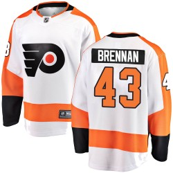 T.J. Brennan Philadelphia Flyers Youth Fanatics Branded White Breakaway Away Jersey