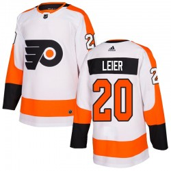 Taylor Leier Philadelphia Flyers Men's Adidas Authentic White Jersey