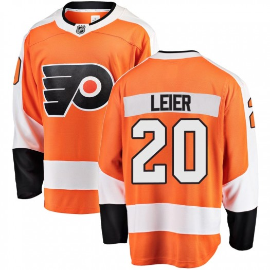 Taylor Leier Philadelphia Flyers Men's Fanatics Branded Orange Breakaway Home Jersey
