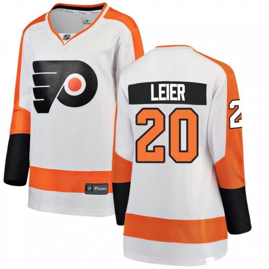 Taylor Leier Philadelphia Flyers Women's Fanatics Branded White Breakaway Away Jersey