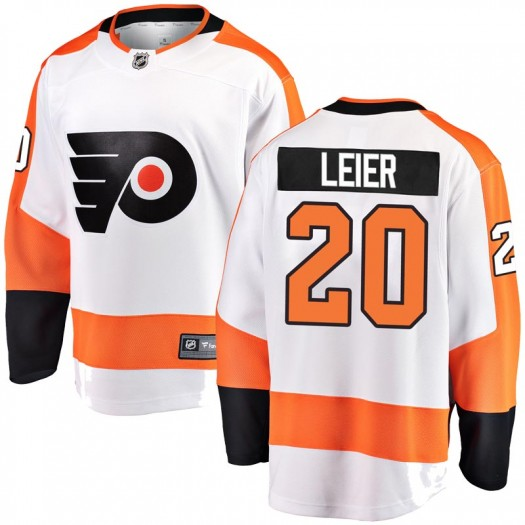 Taylor Leier Philadelphia Flyers Youth Fanatics Branded White Breakaway Away Jersey