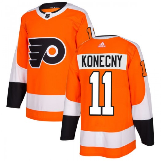 Travis Konecny Philadelphia Flyers Men's Adidas Authentic Orange Jersey