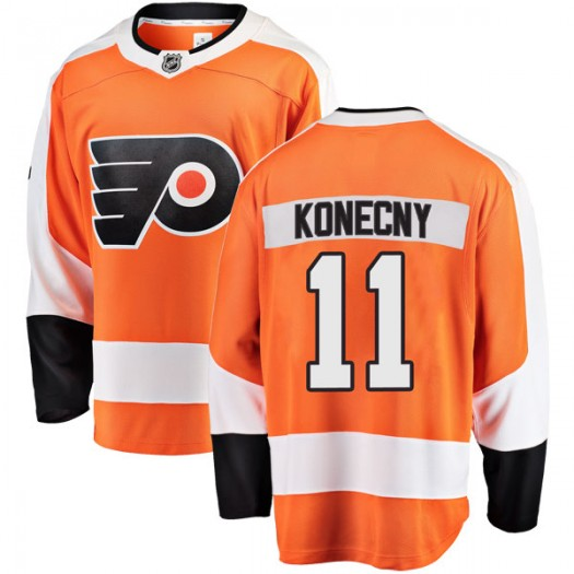 Travis Konecny Philadelphia Flyers Men's Fanatics Branded Orange Breakaway Home Jersey
