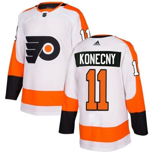 Travis Konecny Philadelphia Flyers Women's Adidas Authentic White Away Jersey