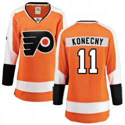 Travis Konecny Philadelphia Flyers Women's Fanatics Branded Orange Home Breakaway Jersey