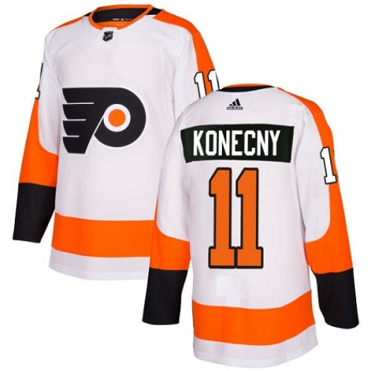 Travis Konecny Philadelphia Flyers Youth Adidas Authentic White Away Jersey