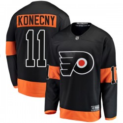 Travis Konecny Philadelphia Flyers Youth Fanatics Branded Black Breakaway Alternate Jersey