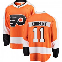 Travis Konecny Philadelphia Flyers Youth Fanatics Branded Orange Breakaway Home Jersey